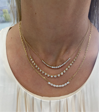 Load image into Gallery viewer, Graduated Diamond Chain Necklace