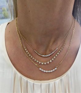Graduated Diamond Chain Necklace