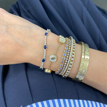 Load image into Gallery viewer, Sapphire and Diamond Tennis Bracelet