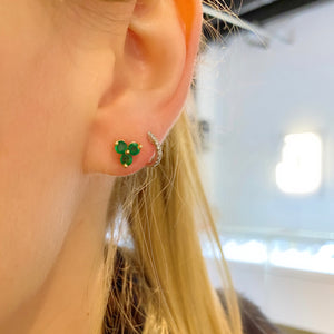 Trio Gemstone Studs