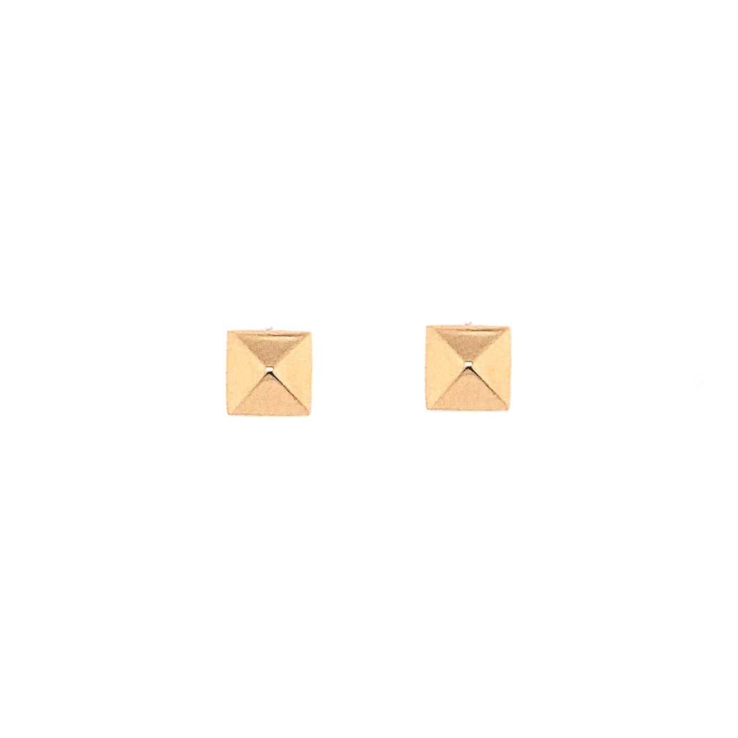 Gold Pyramid Studs (Single)