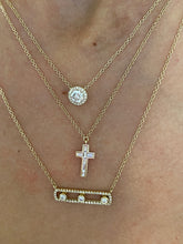 Load image into Gallery viewer, Baguette Cross Necklace