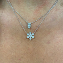 Load image into Gallery viewer, Pave Flower Necklace