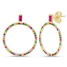 Load image into Gallery viewer, Multi Color Loop Earrings