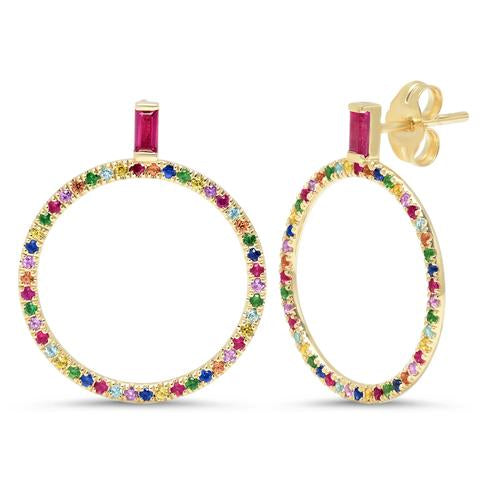 Multi Color Loop Earrings