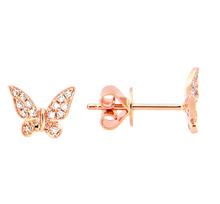 Load image into Gallery viewer, Diamond Butterfly Earrings