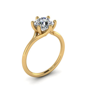 Round Solitaire 6-Prong Diamond Ring