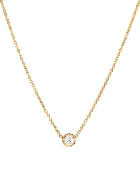Small Bezel Diamond Necklace