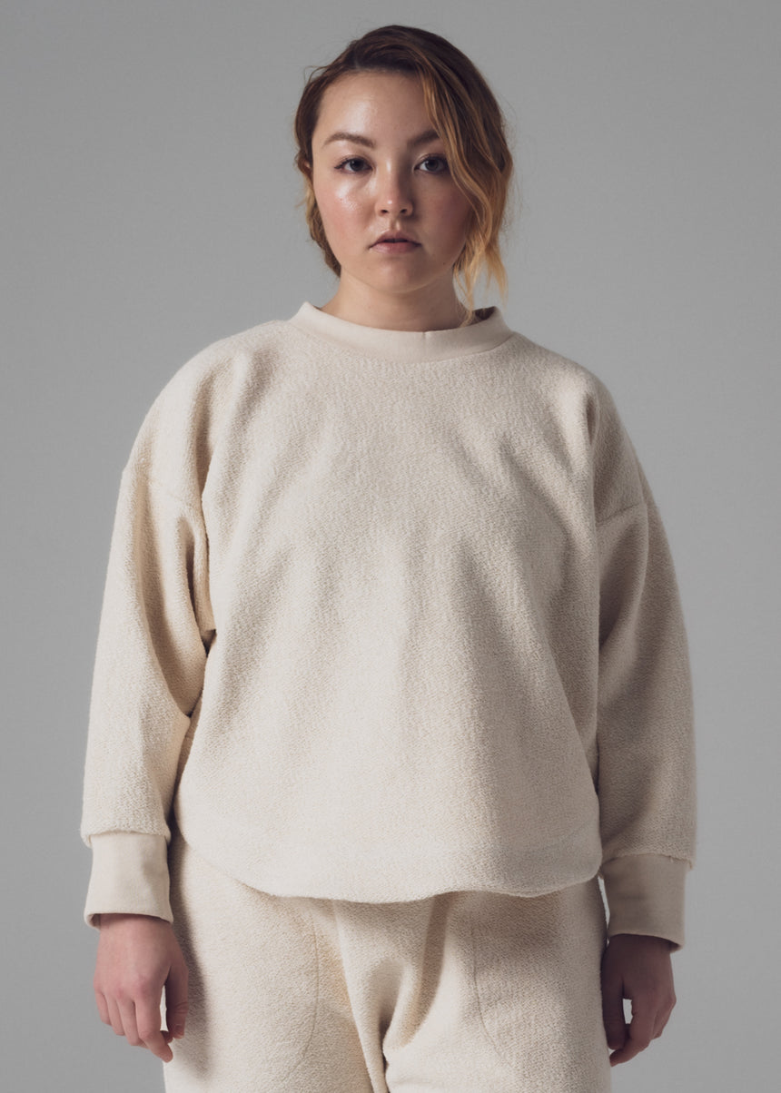 Curve Sweatshirt in Natural French Terry