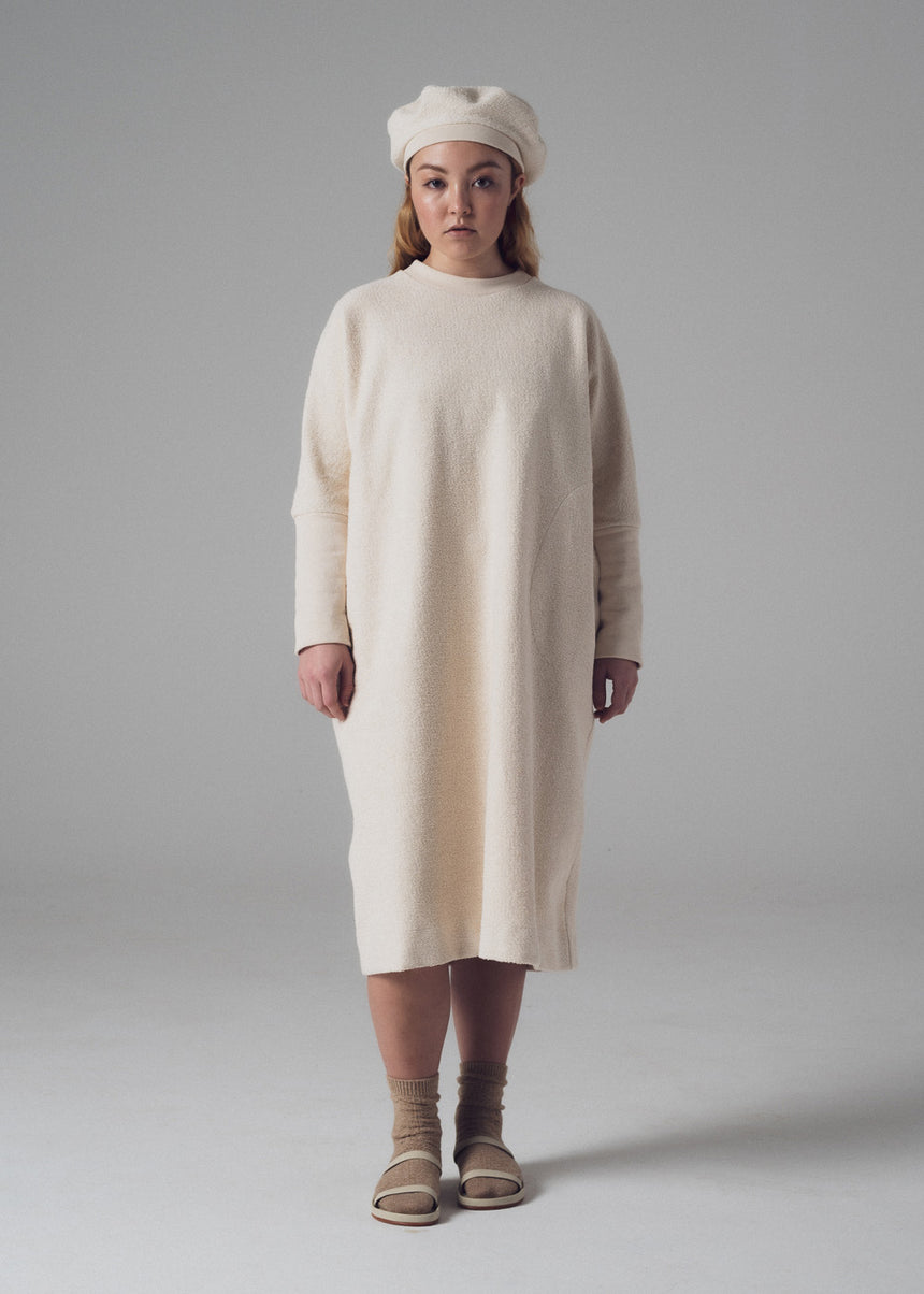 Ramos Sweatshirt Dress in Natural French Terry