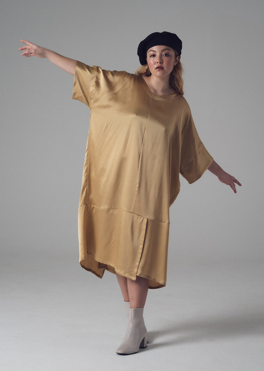 Haus Dress in Citrine Silk Charmeuse