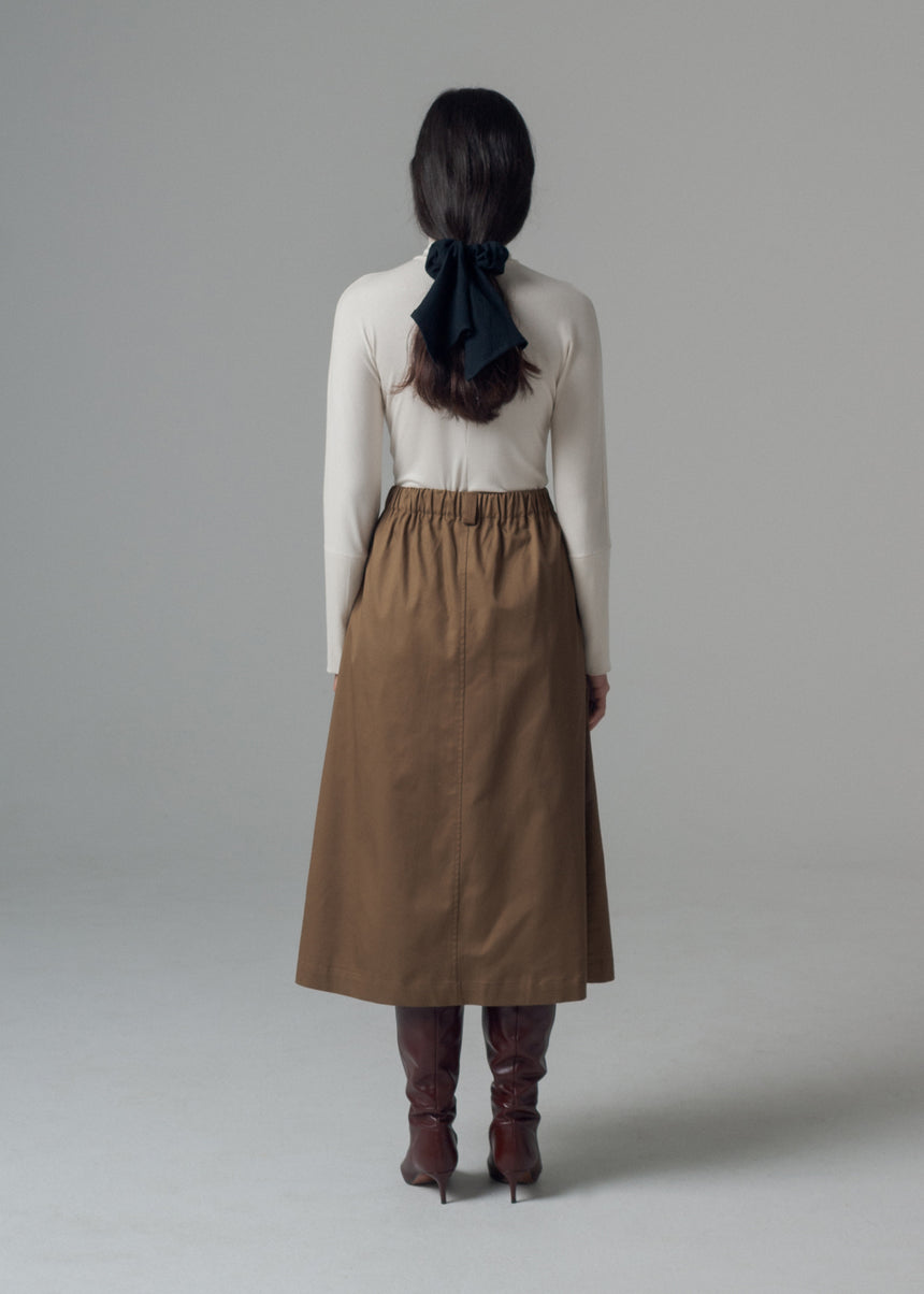 Sylvie Trouser Skirt in Sable