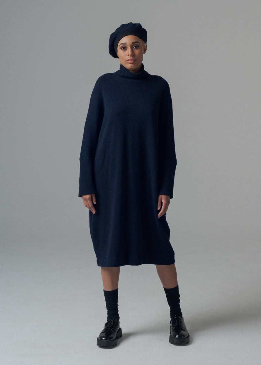 Ramos Sweater Dress in Midnight Blue