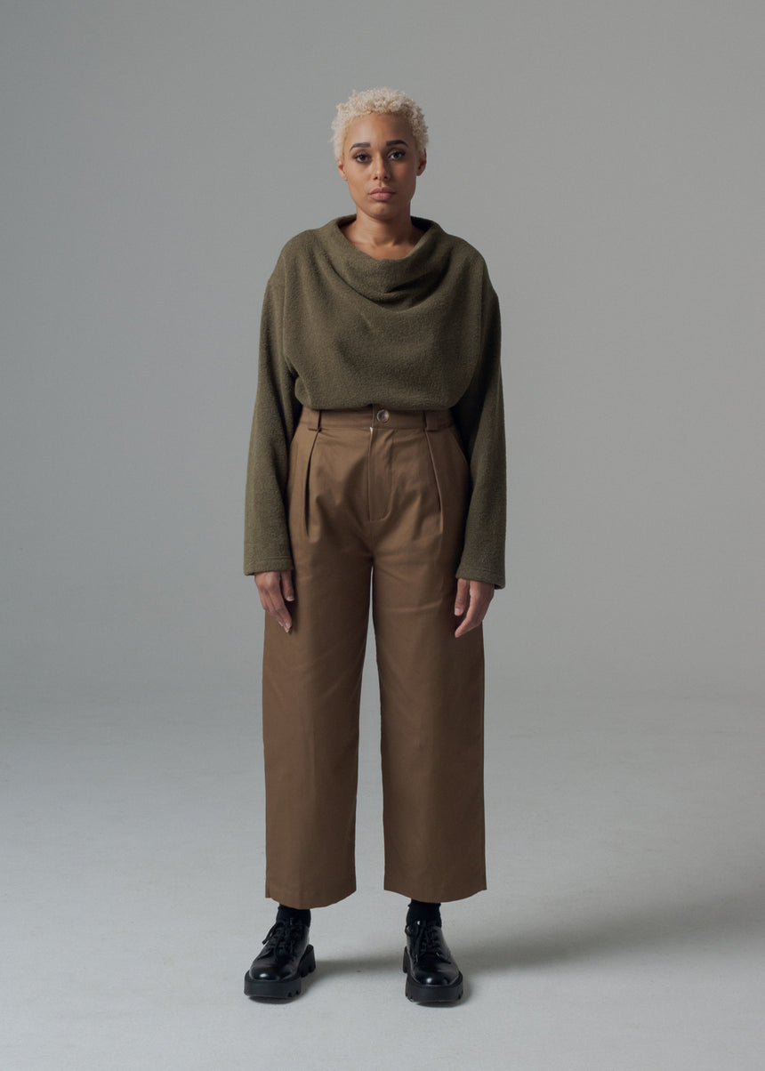 Sylvie Trouser Pant in Sable