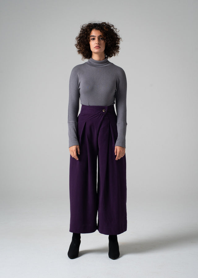 Re Pant in Aubergine - Size Small