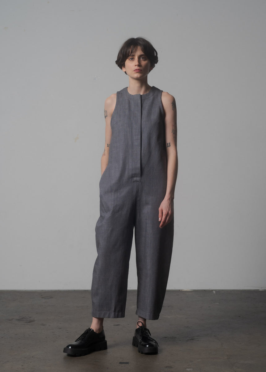 Lou Jumpsuit in Pebble Denim