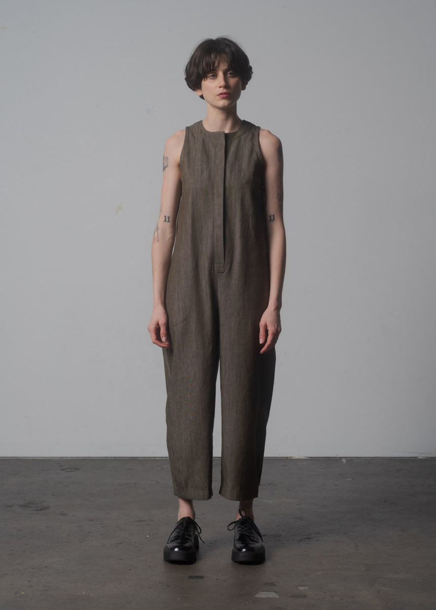 Lou Jumpsuit in Lichen Denim