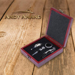 andyanand - Chocolate covered Almond & Mahogany Wine Opener Set - Andyanand - Milk Chocolate