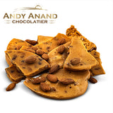 Andy Anand Handmade Almond Brittle made with Honey - 1 lbs