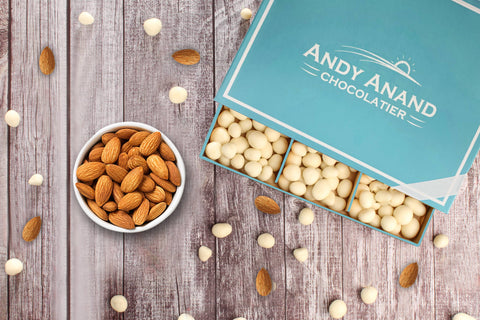 Andy Anand Belgian White Chocolate Almonds