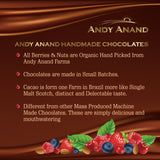 Andy Anand Dark Chocolate Nonpareil Large Size White Color