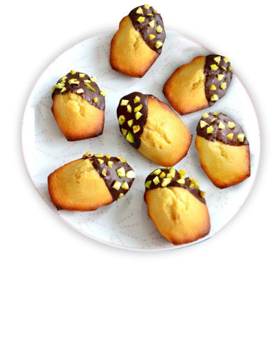 Andy Anand Dark Chocolate Pistachios Drizzled Madeleine Cookie - 11 Oz