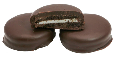 Andy Anand Belgian Dark Chocolate Dipped Oreo Cream Cookies