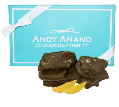 Andy Anand Belgian Dark Chocolate Mango Slices with Sea Salt - 1 lbs