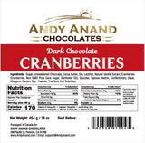 Chocolate covered California Cranberries - 1 lbs