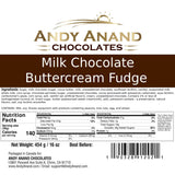 Andy Anand Milk Chocolate Buttercream Fudge