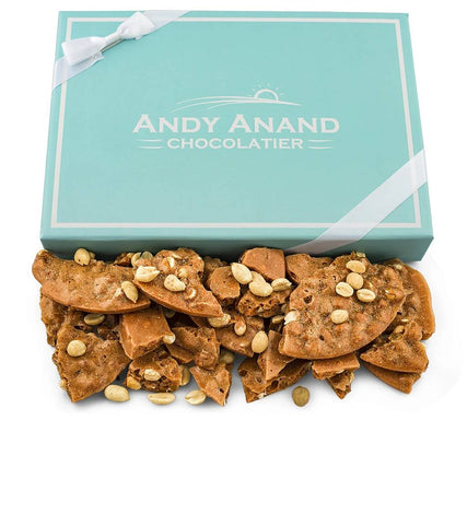 Andy Anand Handmade Peanut Brittle made with Honey - 1 lbs