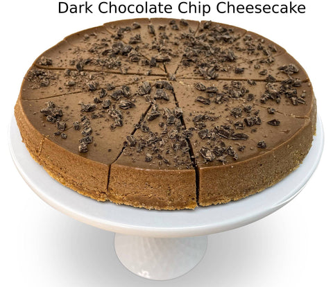 "Andy Anand Sugar Free Dark Chocolate Chip Cheesecake 9"" - 2 lbs"
