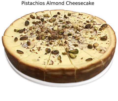 "Andy Anand Sugar Free Pistachios Almond Cheesecake 9"" - 2 lbs"