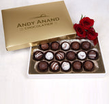 Andy Anand Champagne, Rum, Irish Cream 16 Pc Chocolate Truffles