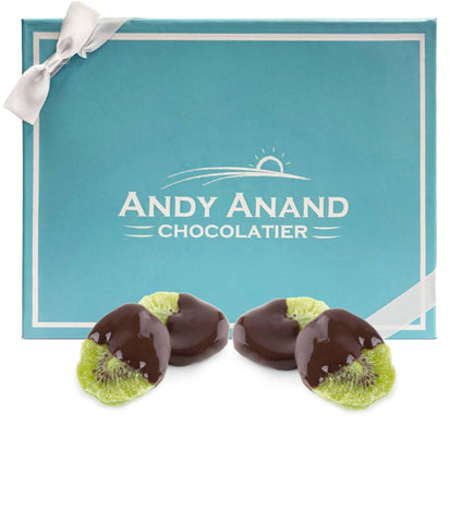 Andy Anand Belgian Dark Chocolate Kiwi Slices - 1 lbs