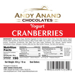 Andy Anand Belgian White Chocolate covered Cranberries - 1 lbs