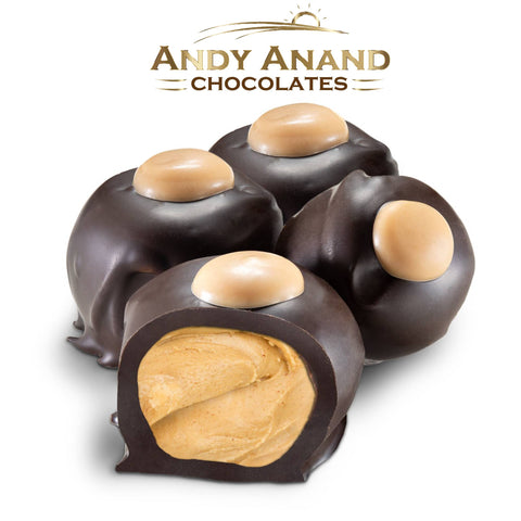 Andy Anand Dark Chocolate Peanut Butter Buckeyes
