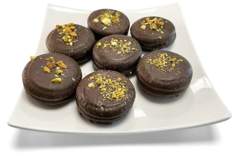 Andy Anand Sugar Free Dark Chocolate Cookies N Cream with Pistachios - 1 lbs