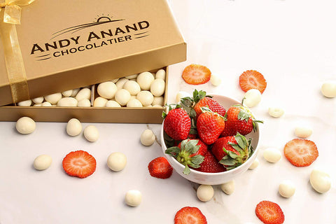 andyanand - Fresh Strawberries covered with White Chocolate - Andyanand - White Chocolate