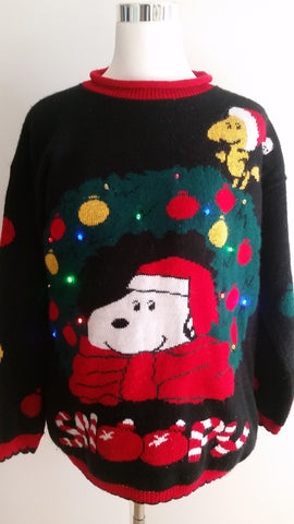 Lighted ugly Christmas sweater MED LIT002