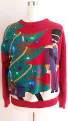 Light up Ugly Christmas Sweater Medium LIT008