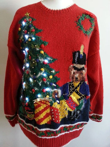 Light up Ugly Christmas Sweater MEDIUM LIT056