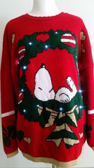 Light up ugly Christmas sweater 2-3XL LIT074