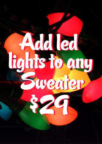 Add lights to any sweater!