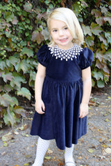 Girls Velveteen Holiday Dress