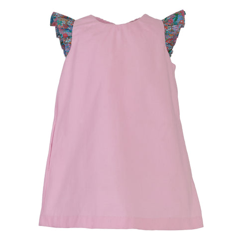 Francie Dress, Bubblegum Pink with Poppy Sleeve