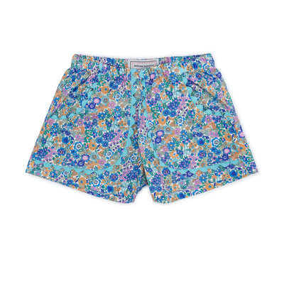 Girls Shorts, Hydrangea Blue