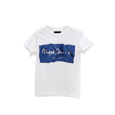 BOYS' S/S PRINTED TEE - BLUE / WHITE - Export Mall Online Store Sale