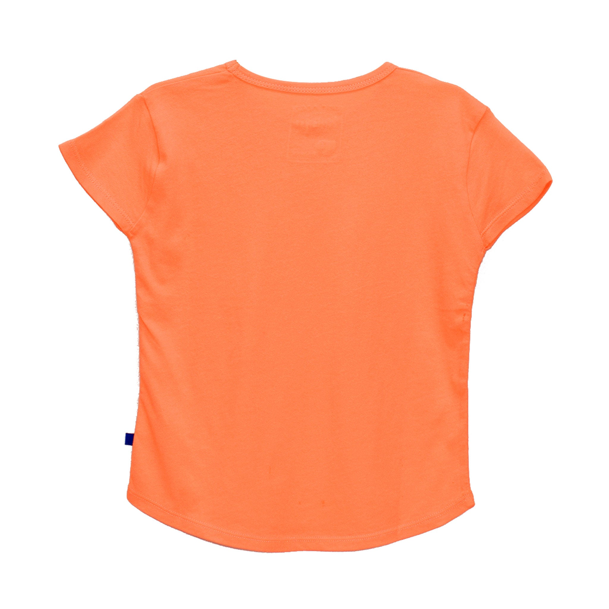 GIRL'S PRINTED TEE - ORANGE / TWIN BOWS