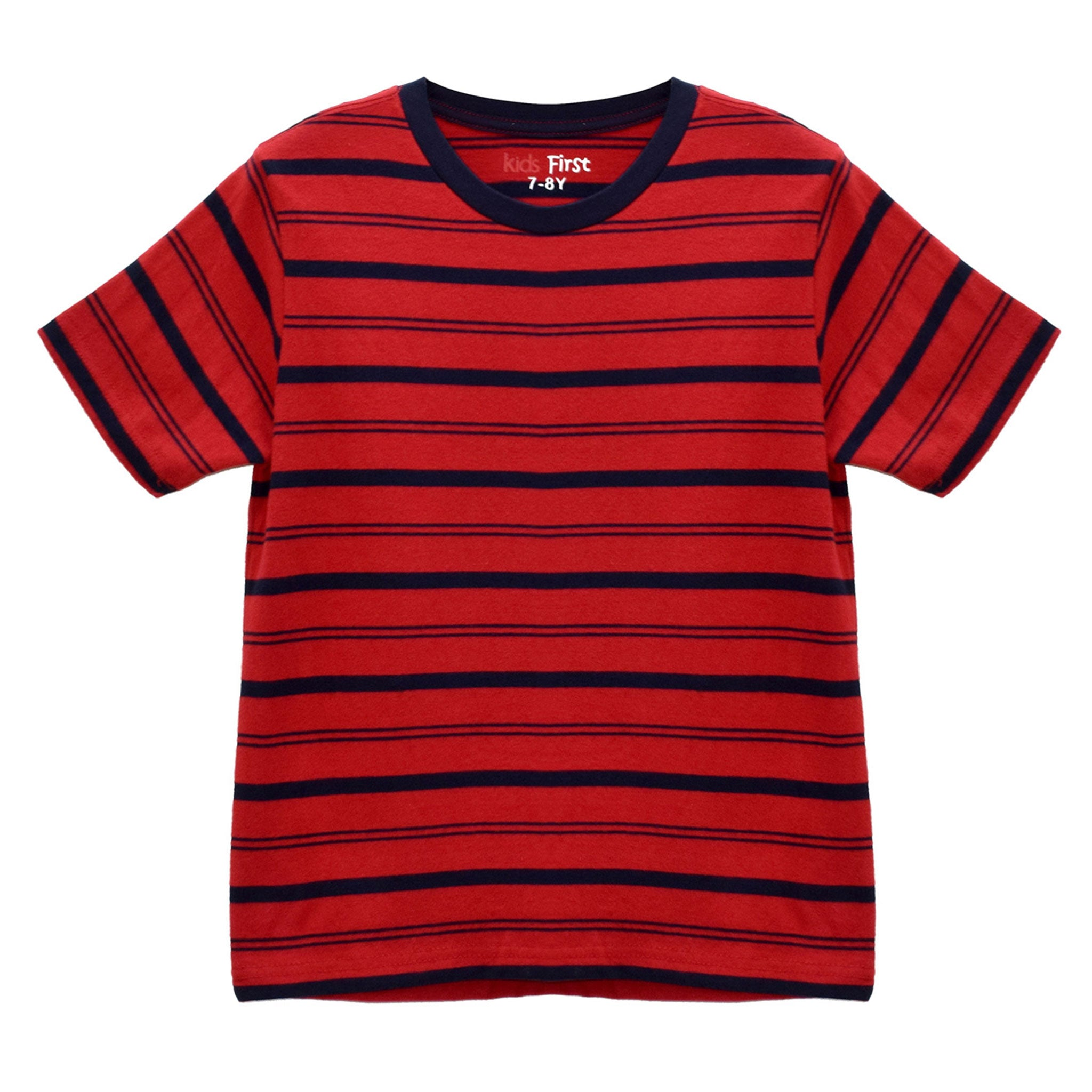 BOYS' S/S YD TEE - RED / DOUBLE NAVY